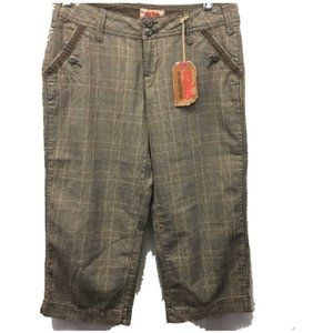 NOBO Brown Plaid Capri Pants Size 7 Windowpane